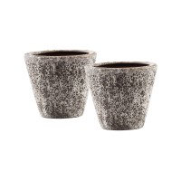 Palatino Set of 2 Planters Brown