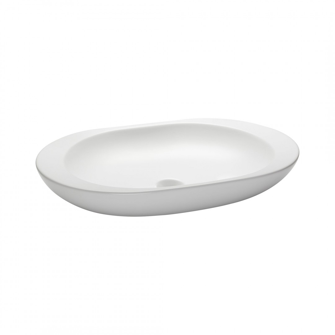 23.2-inch Oval Vitreous China Vessel - White