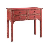 Wilber Console In Brick Red