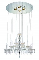 Macy Pendant Lamp Clear Glass and Crystal..