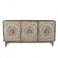 Osian Cabinet with Hand Carved Pattern