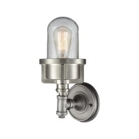 Briggs 1 Wall Sconce Weathered Zinc/Satin Nickel
