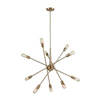 Delphine 10-Light Chandelier in Satin Brass