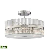 Nescott 3 Light LED Semi Flush in Polished Chrome