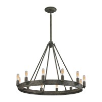 Lewisburg 12-Light Chandelier in Malted Rust and Iron