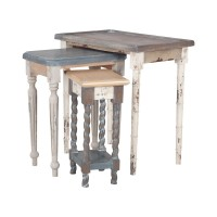 Artifacts Nesting Tables In Multi Stain Collage Finish