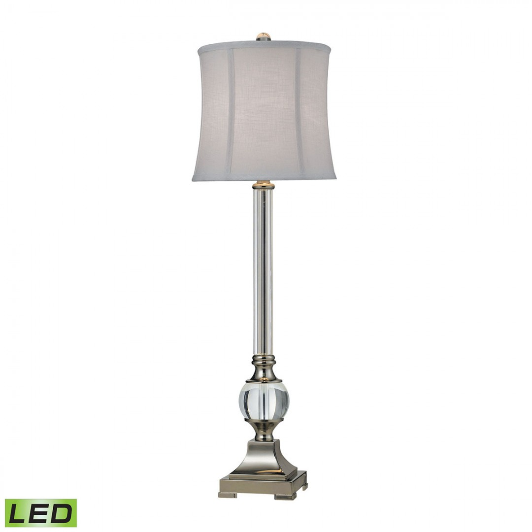 Corvallis LED Buffet Lamp In Polished Nickel And Clear Finish