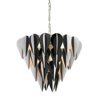 MOD INSPIRED BLACK AND WHITE 3 TIER PENDANT