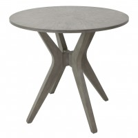 Hawthorne Estate Maple Driftwood Top Round Accent Table