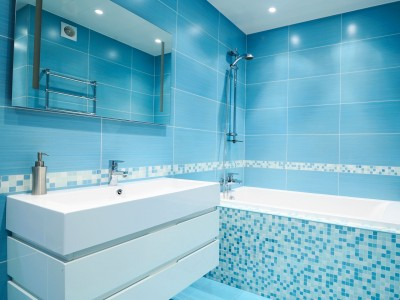 Bathroom in Blue style