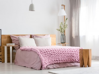 Bedroom. Pink style