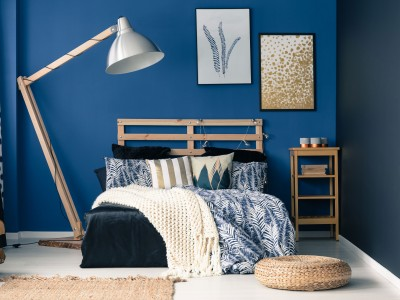 Blue color in Bedroom