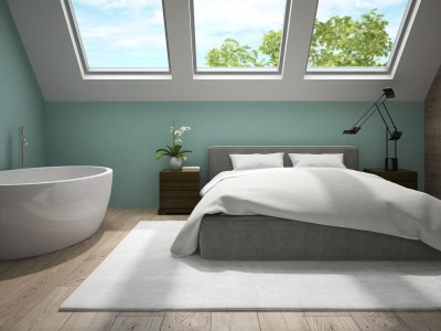 Bedroom with bath